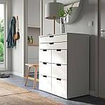IKEA NORDLI Комод с 8 ящиками, белый, 80x99 см (693.368.87), фото 2