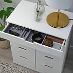 IKEA NORDLI Комод с 8 ящиками, белый, 80x99 см (693.368.87), фото 3