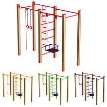 Гімнастичний комплекс з сходами, кільцями, гойдалок DIO655 для спортивного та дитячого майданчика