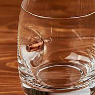 Стакан из богемского стекла с пулей 7.62 мм, фото 4