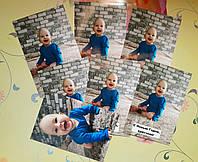 Набор фотомагнитов с фото маленьких