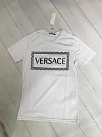 Женская футболка VERSACE белый,черный.Жіноча футболка VERSACE білий, чорний.