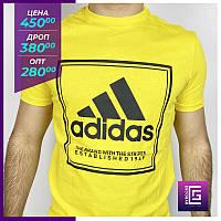 Мужские футболки Adidas желтая. Чоловічі футболки Adidas жовта.