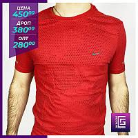 Мужская футболка Nike красная.Чоловіча футболка Nike червона.