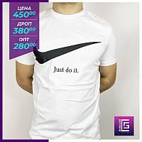 Мужская футболка Nike белый.Чоловіча футболка Nike білий.