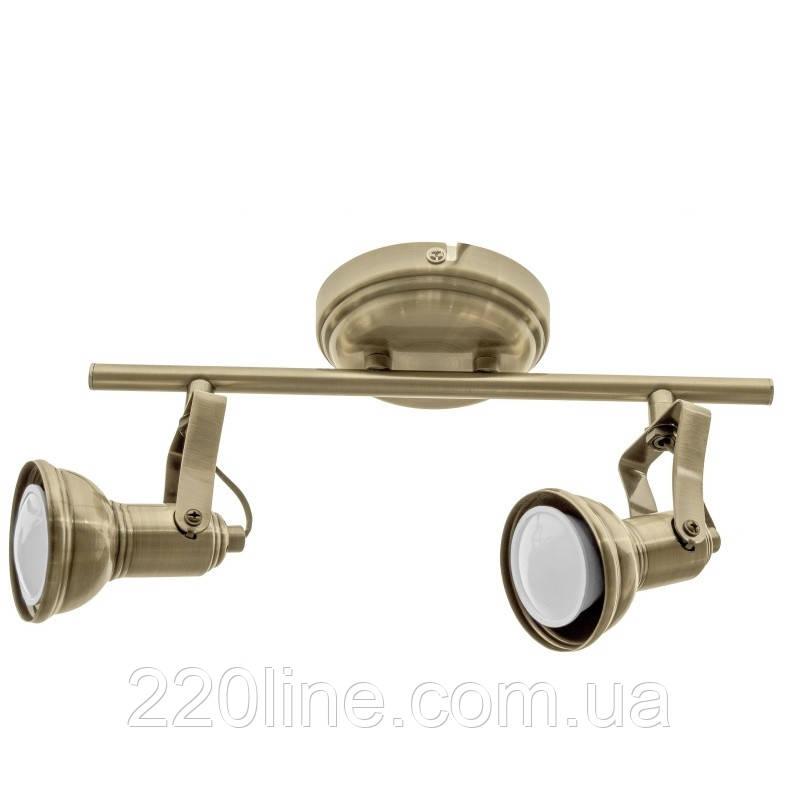Світильник настінно-стельовий спот лофт HTL-196/2 GU10 AB