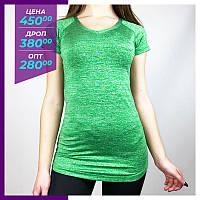 Женская футболка Nike зеленый. Жіноча футболка Nike зелений.