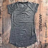 Женская футболка Nike серый. Жіноча футболка Nike сiрий.