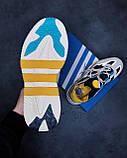 🔥 Кроссовки мужские Adidas Niteball адидас найтбол белые повседневные спортивные легкие, фото 4