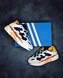 🔥 Кроссовки мужские Adidas Niteball адидас найтбол белые повседневные спортивные легкие, фото 5