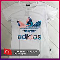 Женская футболка Adidas белый. Жіноча футболка Adidas бiлий.
