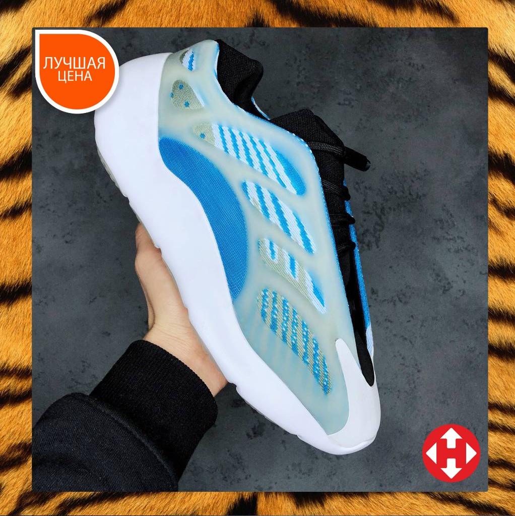 🔥 Кроссовки женские Adidas Yeezy Boost 700 v3 адидас изи буст белые голубые повседневные спортивные легкие
