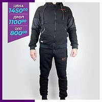 Мужской спортивный костюм Nike черний. Чоловічий спортивний костюм Adidas чорний