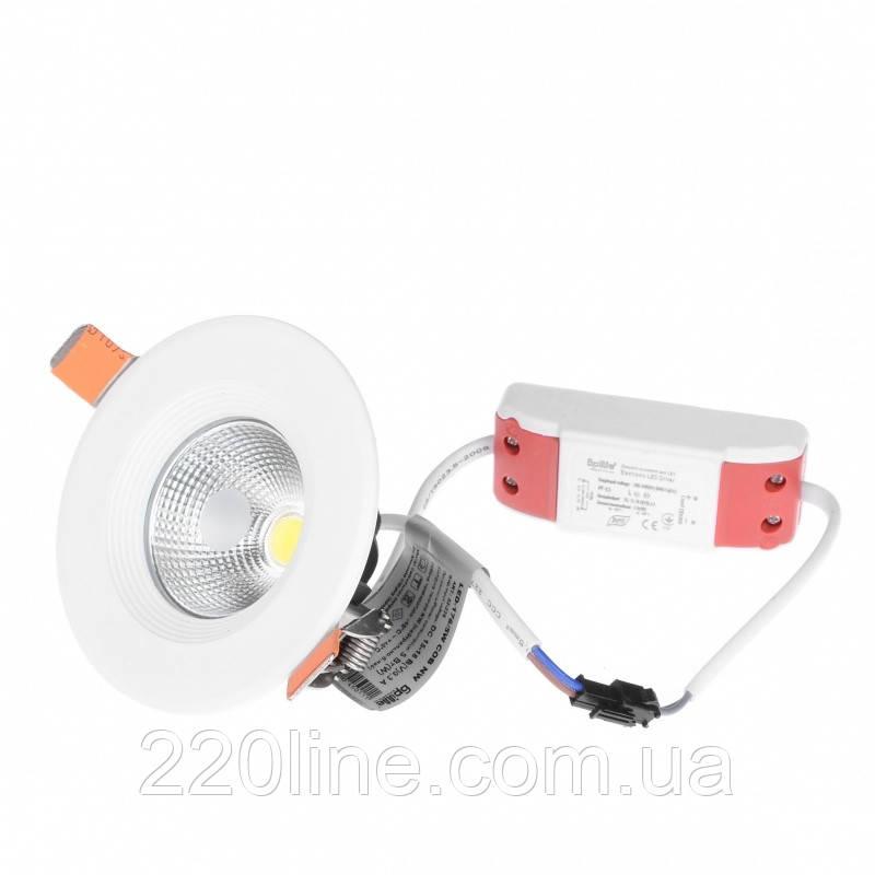 Світильник стельовий LED вбудований LED-176/5W COB NW
