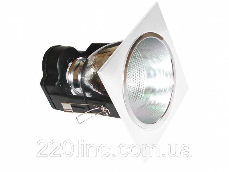 Світильник стельовий вбудований VDL-40K WH SQR