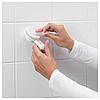 Гачки з вакуумною присоском IKEA TISKEN білі 2 шт вішалки для рушників ІКЕА ТІСКЕН, фото 9