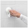 Гачки з вакуумною присоском IKEA TISKEN білі 2 шт вішалки для рушників ІКЕА ТІСКЕН, фото 10
