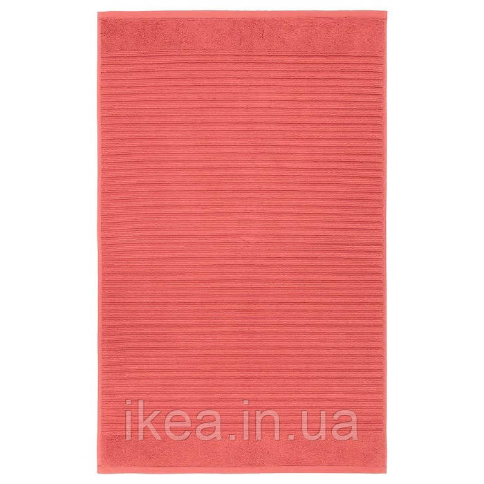 Махровий килимок для ванної 50x80 см 100% бавовна IKEA ALSTERN червоний смугастий ІКЕА АЛЬСТЕРН
