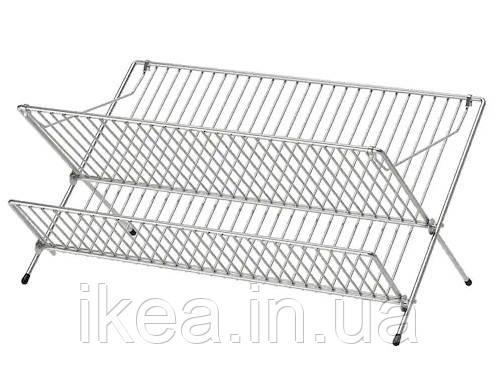 Сушилка для посуды IKEA KVOT 48x29x23 см двухъярусная сушка из нержавеющей стали ИКЕА КВОТ