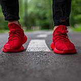 🔥 Кроссовки мужские Adidas Yeezy Boost 350 адидас изи буст красные повседневные спортивные легкие, фото 2