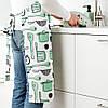 Фартук кухонный IKEA RINNIG 100% полиэстер бело-зелёный с рисунком и водоотталкивающим покрытием ИКЕА РІННІГ, фото 3