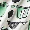 Фартук кухонный IKEA RINNIG 100% полиэстер бело-зелёный с рисунком и водоотталкивающим покрытием ИКЕА РІННІГ, фото 5