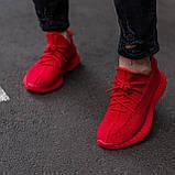 🔥 Кроссовки мужские Adidas Yeezy Boost 350 адидас изи буст красные повседневные спортивные легкие, фото 3
