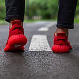 🔥 Кроссовки мужские Adidas Yeezy Boost 350 адидас изи буст красные повседневные спортивные легкие, фото 4