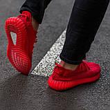 🔥 Кроссовки мужские Adidas Yeezy Boost 350 адидас изи буст красные повседневные спортивные легкие, фото 5