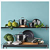 Сковорода Ø24см IKEA ОУМБЕРЛІГ ИКЕА из нержавеющей стали с антипригарным покрытием Teflon® Platinum plus, фото 4