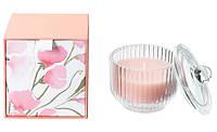 Свеча ароматическая в стакане розовая в коробке IKEA BLOMDOFT 9 см х 20 часов горения ИКЕА БЛОМДОРФ
