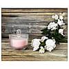 Ароматична свічка в склянці рожева в коробці IKEA BLOMDOFT 9 см х 20 годин горіння ІКЕА БЛОМДОРФ, фото 5