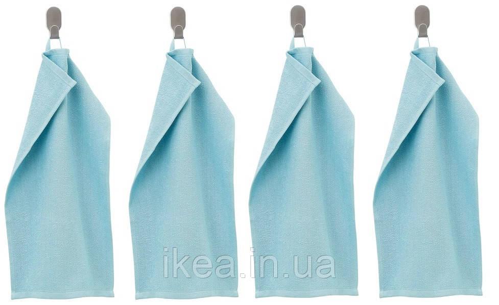 Махрові рушники для обличчя IKEA KORNAN 2 шт 30x50 см блакитні ІКЕА КОРНАН