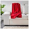 Плед флисовый IKEA POLARVIDE 130x170 см мягкий тёплый красный ИКЕА ПОЛАРВІДЕ, фото 3