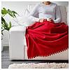 Плед флисовый IKEA POLARVIDE 130x170 см мягкий тёплый красный ИКЕА ПОЛАРВІДЕ, фото 4