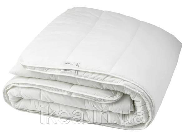 Одеяло всесезонное тёплое белое IKEA SMÅSPORRE 200x200 см СМОСПОРРЕ ИКЕА