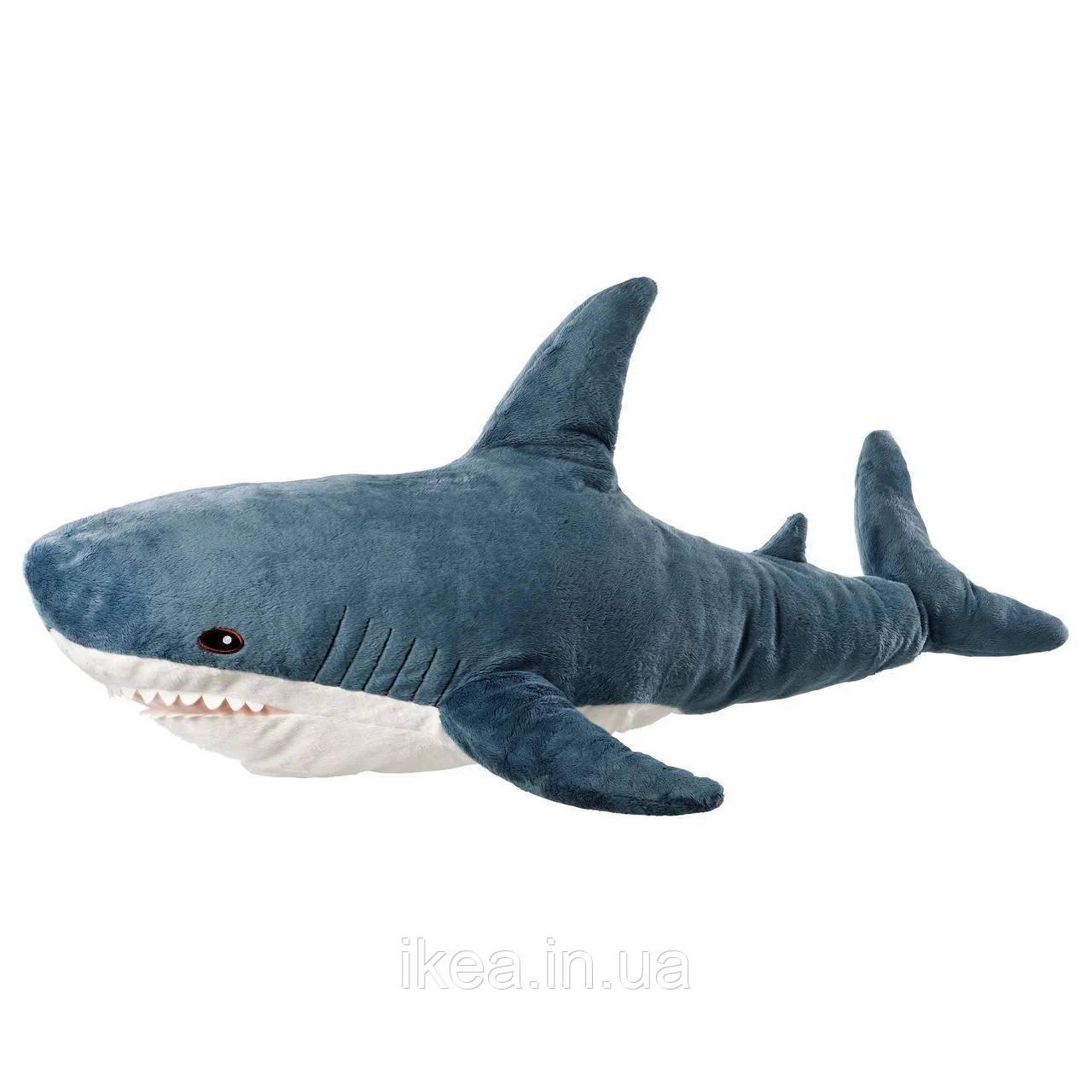 Плюшева іграшка Акула 100 см синя IKEA BLÅHAJ дитяча м'яка іграшка ІКЕА БЛОХЕЙ