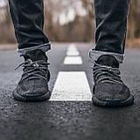 🔥 Кроссовки мужские Adidas Yeezy Boost 350 адидас изи буст черные повседневные спортивные рефлективные, фото 2