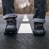 🔥 Кроссовки мужские Adidas Yeezy Boost 350 адидас изи буст черные повседневные спортивные рефлективные, фото 4