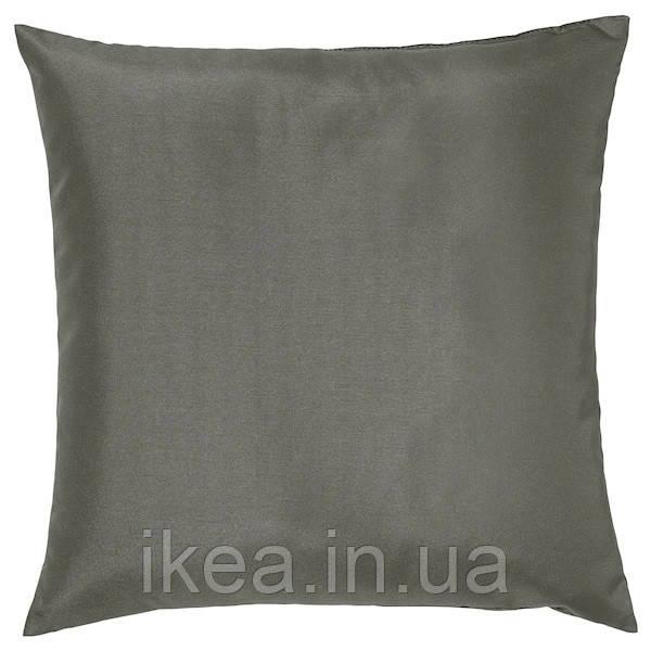 Подушка декоративная серая 50x50 см IKEA ULLKAKTUS УЛЛЬКАКТУС ИКЕА