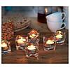 Свічки таблетки чайні IKEA GLIMMA 500 шт х 4 години горіння, декоративні плаваючі свічки ГЛІММА ІКЕА, фото 5