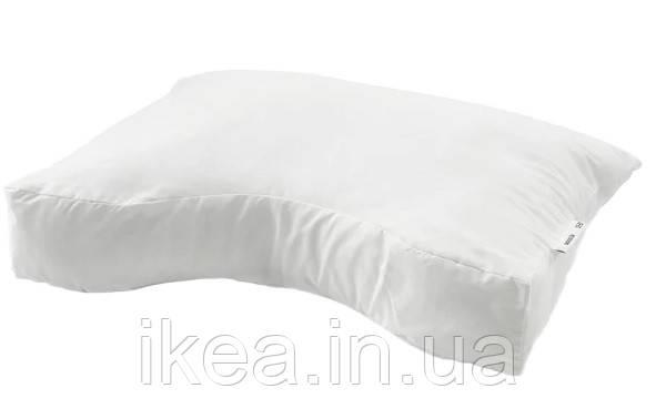 Эргономичная подушка, универсальная белая IKEA SKOGSLÖK 40x55 см ИКЕА ШОГСЛЕК