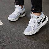 🔥 Кросівки чоловічі Nike Run Flyknit найк ран флайкнит білі повсякденні спортивні легкі, фото 4