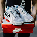 🔥 Кросівки чоловічі Nike Run Flyknit найк ран флайкнит білі повсякденні спортивні легкі, фото 6