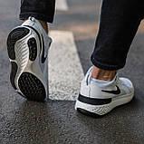 🔥 Кросівки чоловічі Nike Run Flyknit найк ран флайкнит білі повсякденні спортивні легкі, фото 5