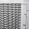 Шторка для ванной и душа чёрно-белая в полоску IKEA VADSJÖN 180x200 см ИКЕА ВАДШЕН, фото 2