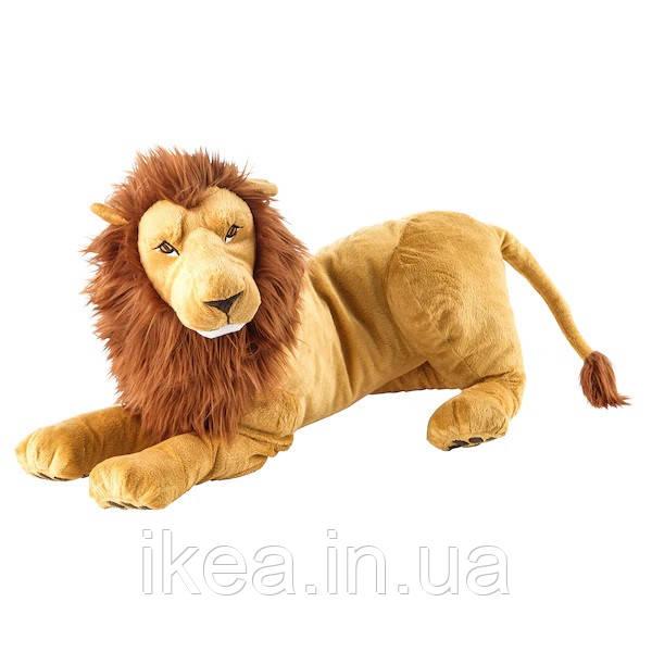 Плюшева іграшка Лев 70 см IKEA DJUNGELSKOG дитяча м'яка іграшка ІКЕА ДЙУНГЕЛЬСКОГ
