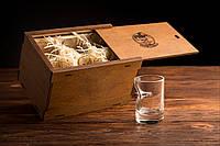 Рюмки с пулей 5.45 набор из 6шт в подарочной деревянной коробке   рюмки стопки с пулей, набор шесть штук
