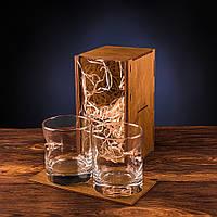 Набор из двух стаканов с настоящей пулей 7.62мм, пуля в стакане, подарочный набор