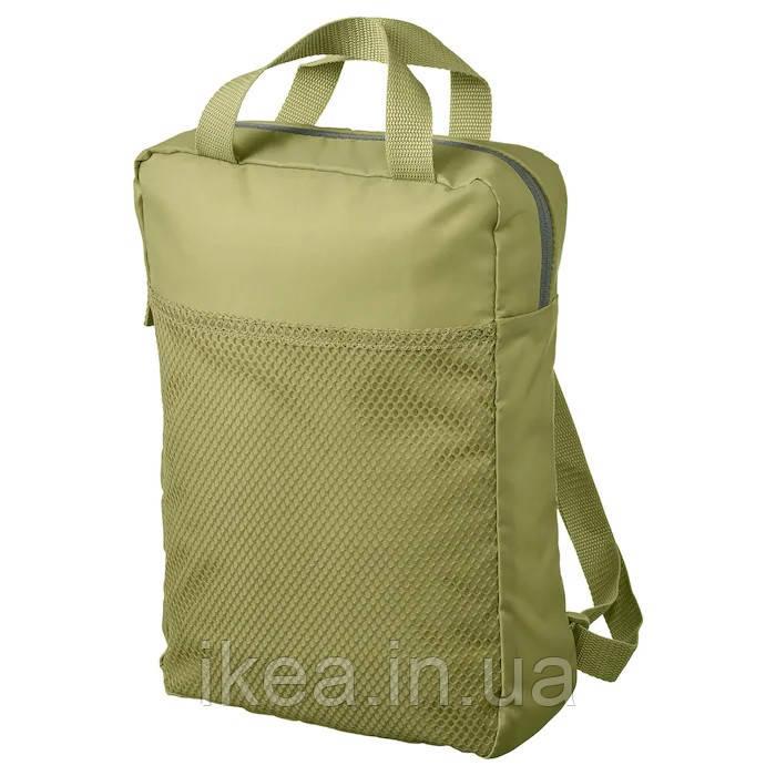 Рюкзак водостойкий залёный 9 л IKEA PIVRING сумка для ноутбука ИКЕА ПІВРІНГ